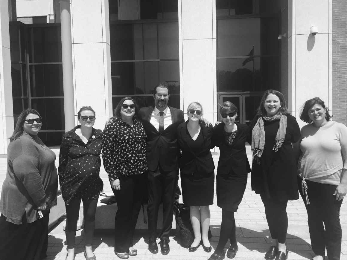 Photo of ACLU legal team and plaintiffs in our case challenging the ban on Medicaid coverage for abortion.