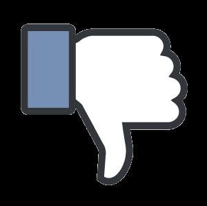 Upside-down Facebook thumb