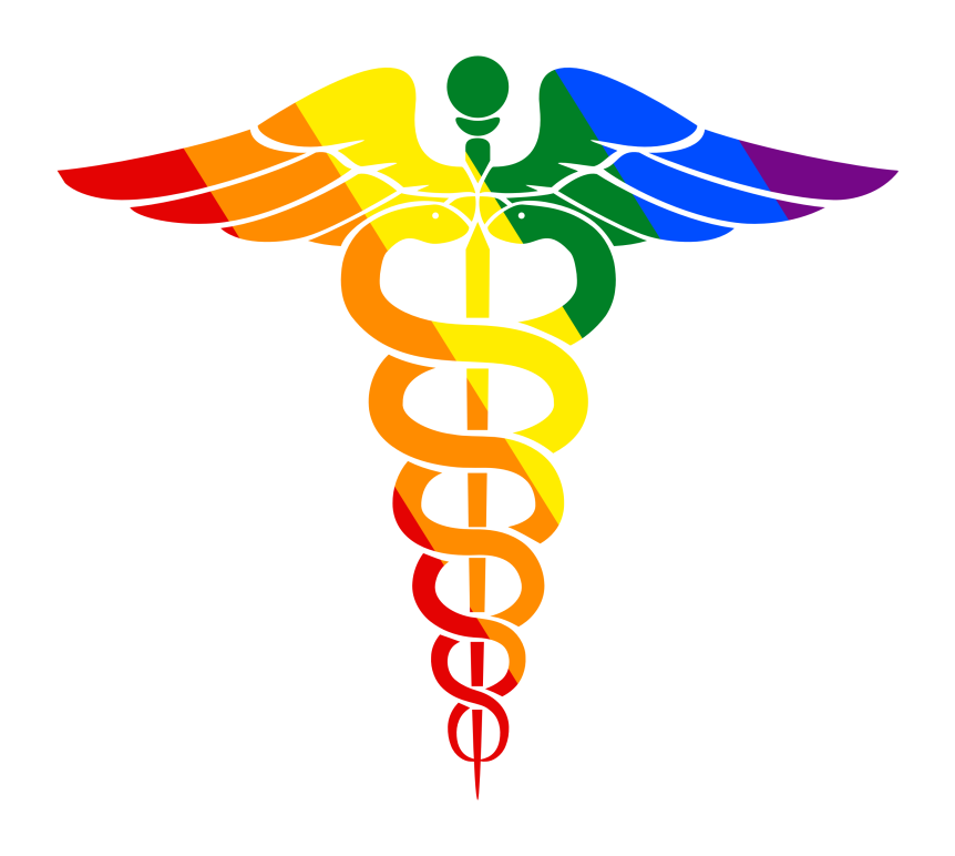 Rainbow caduceus
