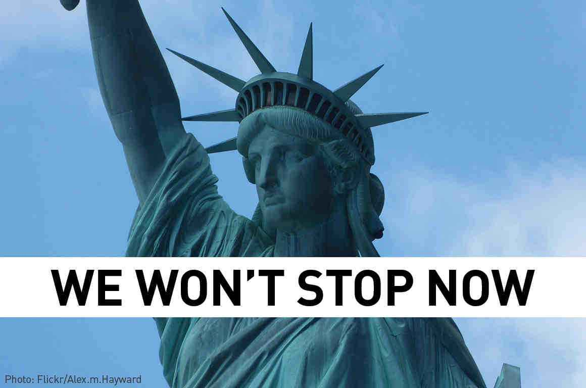 Statue of Liberty - we won't stop now